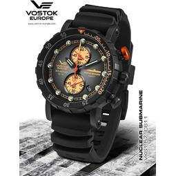 Ceas Vostok - Europe Nuclear Submarine Grand Chrono Tritium